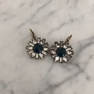 Chloe and Isabel Blue and Crystal Earrings